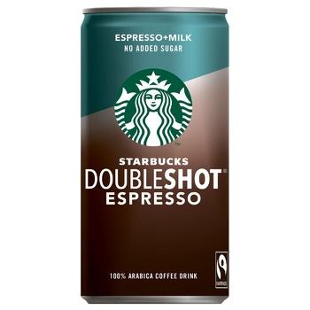 Starbucks Doubleshot Espresso Coffee Drink Without Sugar 200ml - buy, prices for CityMarket - photo 1