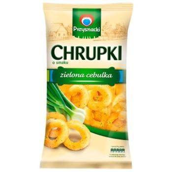 Przysnacki with taste of green onions corn snack 150g - buy, prices for Auchan - photo 1