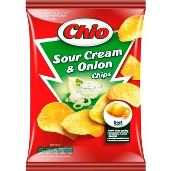 Potato chips Chio Chips with sour cream and onion taste 75g Hungary - buy, prices for CityMarket - photo 1
