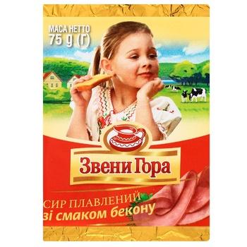 Сир плавлений Звенигора зі смаком бекону 45% 75г - купити, ціни на CітіМаркет - фото 1