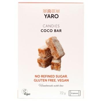 Конфеты Yaro Vegan Кокос 72г