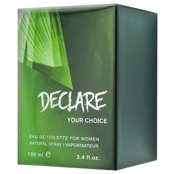 Туалетна вода Аромат Declare Your Choice для жінок 100мл - купити, ціни на Ашан - фото 1