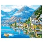 Набір для творчості Ідейка КНО2143 Австрійський пейзаж 40х50см