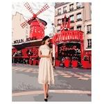 Набор для творчества Идейка КНО4657 Moulin Rouge 40х50см