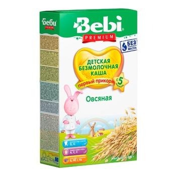 Каша Bebi Premium безмолочная овсяная для детей с 5 месяцев 200г - купить, цены на Ашан - фото 1