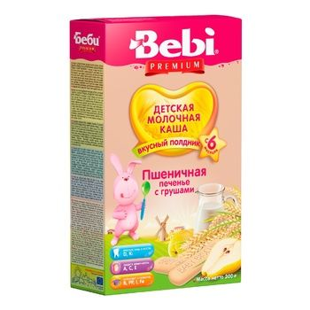 Dry instant milk porridge Bebi wheat cookies with pears for 6+ month babies 200g - buy, prices for CityMarket - photo 1