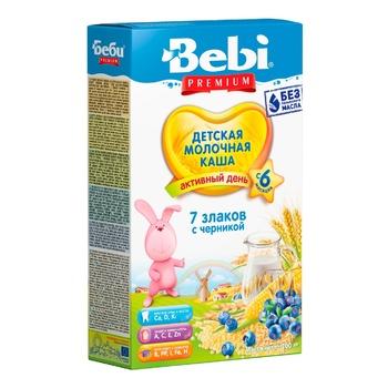 Bebi Premium 7 cereals Porridge with blueberries 200g - buy, prices for CityMarket - photo 1