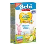 Каша молочная Bebi Premium овсяная с бананом и грушей для детей с 6 месяцев 200г