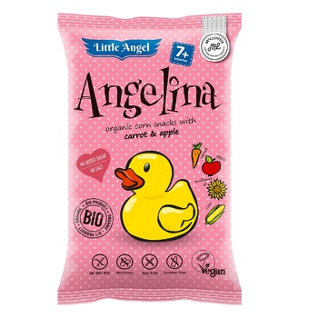 Little Angel Angelima Organic Corn Snack with Carrot & Apple 30g - buy, prices for Auchan - photo 1