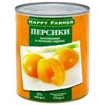 Персики Happy Farmer половинки в сиропі 820г