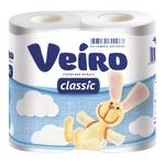 Папір туалетний Veiro Classic двошаровий білий 4шт