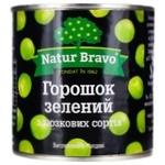 Горошок зелений Natur Bravo консервований 0,425л
