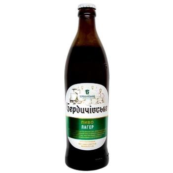 Berdychivske Lager Unpasteurized Light Beer 3,8% 0,5l - buy, prices for CityMarket - photo 1