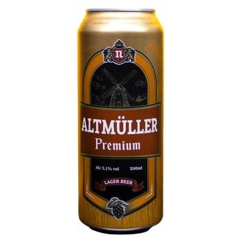 Пиво Altmuller Premium светлое 5,1% 0,5л