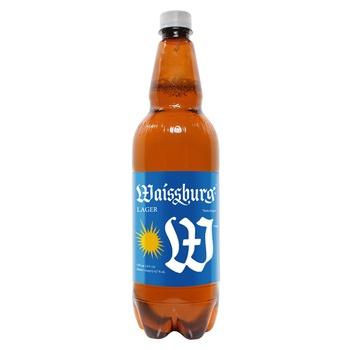 Пиво Уманьпиво Waissburg светлое 4.7% 1л - купить, цены на СитиМаркет - фото 1