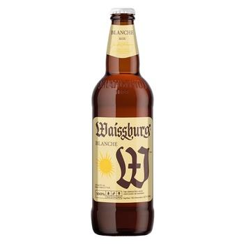 Uman`pivo Waissburg Blanche Unfiltered Light Beer 4,7% 0,5l - buy, prices for CityMarket - photo 1