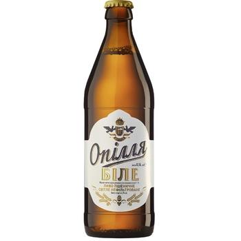 Пиво Опілля Белое светлое нефильтрованное 4% 0,5л - купить, цены на СитиМаркет - фото 1