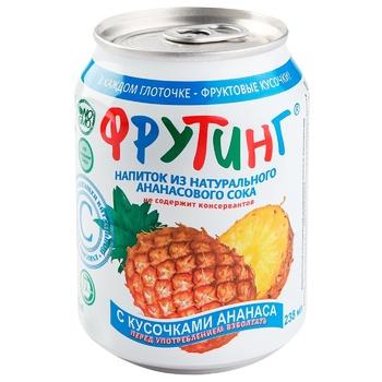 Напій Фрутінг з ананасовим соком 238мл Росія - купити, ціни на CітіМаркет - фото 1