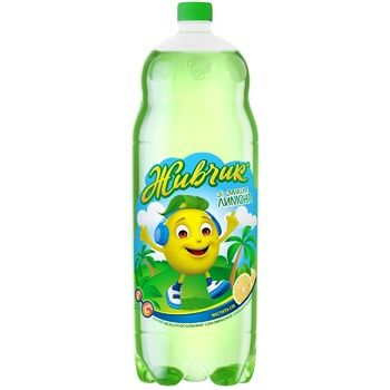 Zhyvchyk Lemon Juice-Containing Carbonated Drink 2l - buy, prices for CityMarket - photo 1