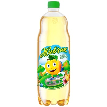 Obolon Zhyvchyk Apple Juice-containing Carbonated Drink 1l - buy, prices for CityMarket - photo 1