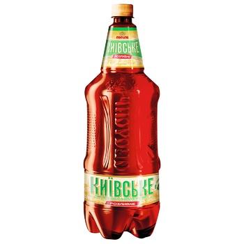 Пиво Оболонь Киевское Розливное светлое 3,8% 1,95л - купить, цены на ЕКО Маркет - фото 1