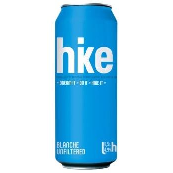 Пиво Hike Blanche світле нефільтроване з/б 4,9% 0,5л - купити, ціни на ЕКО Маркет - фото 1
