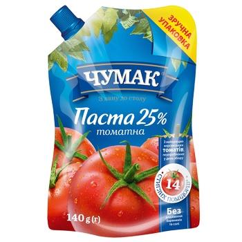 Томатная паста Чумак 25% 140г