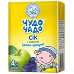 Chudo-Chado plum-apple juice with pulp for children from 4 months 200ml