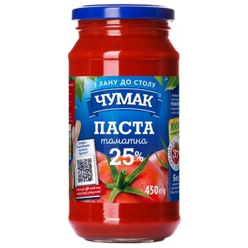 Паста томатна Чумак 25% 450г - купити, ціни на CітіМаркет - фото 1