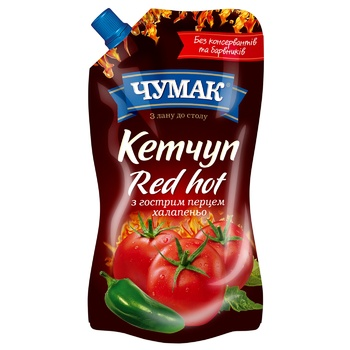 Chumak Ketchup Red Hot 250g - buy, prices for CityMarket - photo 1