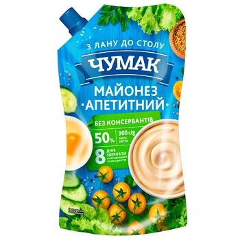 Майонез Чумак Апетитний 50% 300г - купити, ціни на CітіМаркет - фото 1