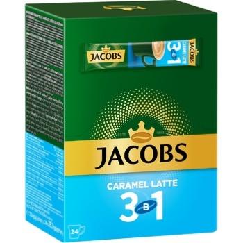 Напиток кофейный Jacobs 3в1 Caramel Latte растворимый 12,3г х 24шт