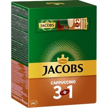 Jacobs 3in1 Cappuccino Instant Coffee Drink 12,5g x 24pcs