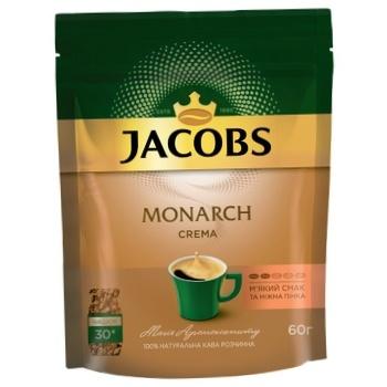 Кофе Jacobs Monarch Crema растворимый 60г - купить, цены на ЕКО Маркет - фото 1
