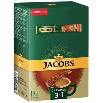 Напій кавовий Jacobs 3в1 Карамель розчинний 15г х 24шт
