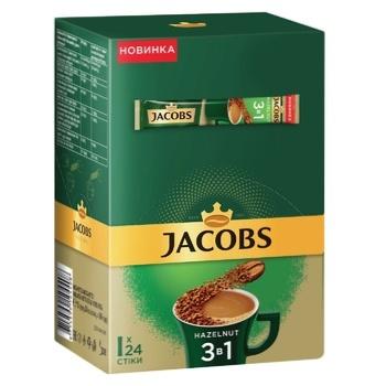Напій кавовий Jacobs 3в1 Лісовий горіх розчинний 15г х 24шт