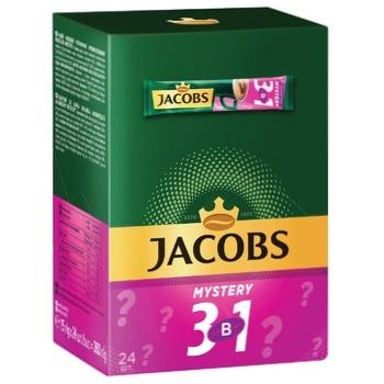 Напій кавовий Jacobs 3в1 Mystery розчинний 15г х 24шт