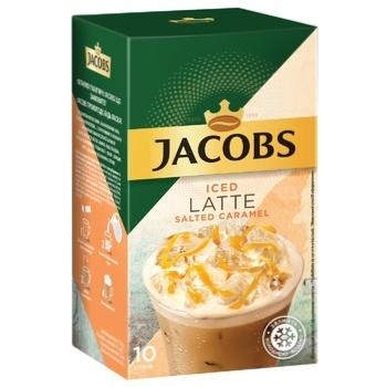 Напій кавовий Jacobs 3в1 Iced Latte Солона карамель 21,3г х 10шт