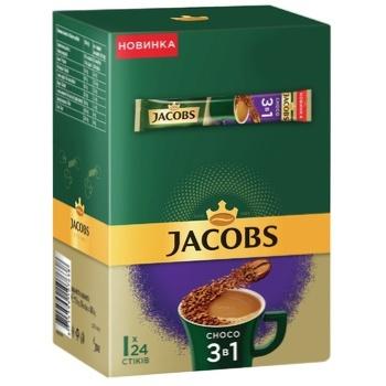 Напій кавовий Jacobs 3в1 Choco розчинний 15г х 24шт