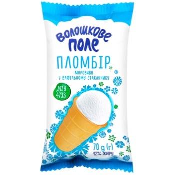Мороженое Волошкове поле пломбир в вафельном стакане 70г
