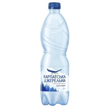 Вода Карпатская Джерельна сильногазированная 0,5л