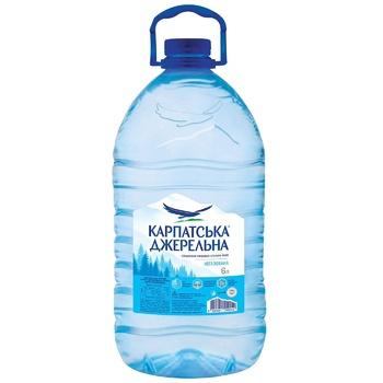 Вода Карпатская Джерельна негазированная 6л