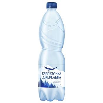 Вода минеральная Карпатская Джерельна газированная 1л - купить, цены на Ашан - фото 1