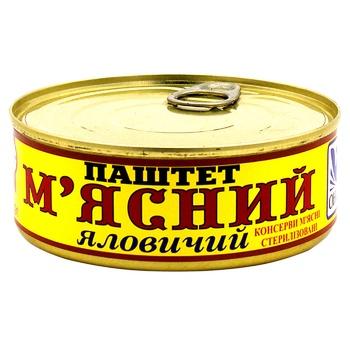 Паштет Оніс м'ясний яловичий 240г - купити, ціни на ЕКО Маркет - фото 1