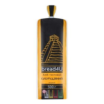 Хліб Bread4U кукурудзяний тостовий 500г - buy, prices for Auchan - photo 1
