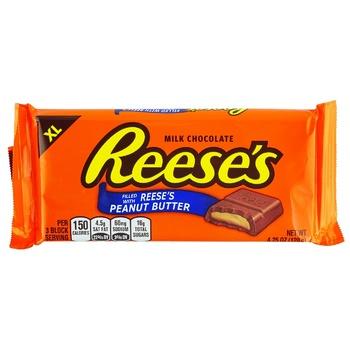 Шоколад Reese`s молочний з арахісовим маслом 120г