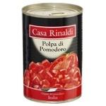 Томати Casa Rinaldi очищені шматочки у власному соку 400г