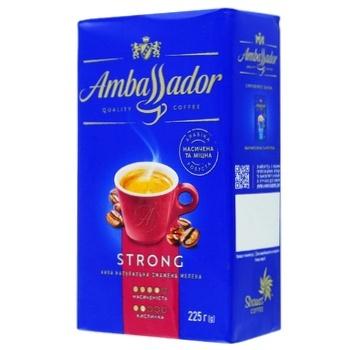 Кофе Ambassador Strong молотый 225г