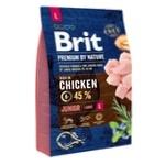 Сухой корм для щенков и молодых собак крупных пород Brit Premium Junior L курица 3кг