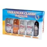 Zlatogor Vodka souvenir set 5pcs 40% 0.05l